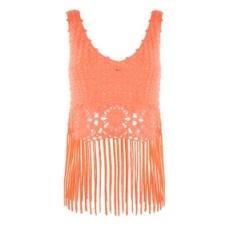 coral fringe top